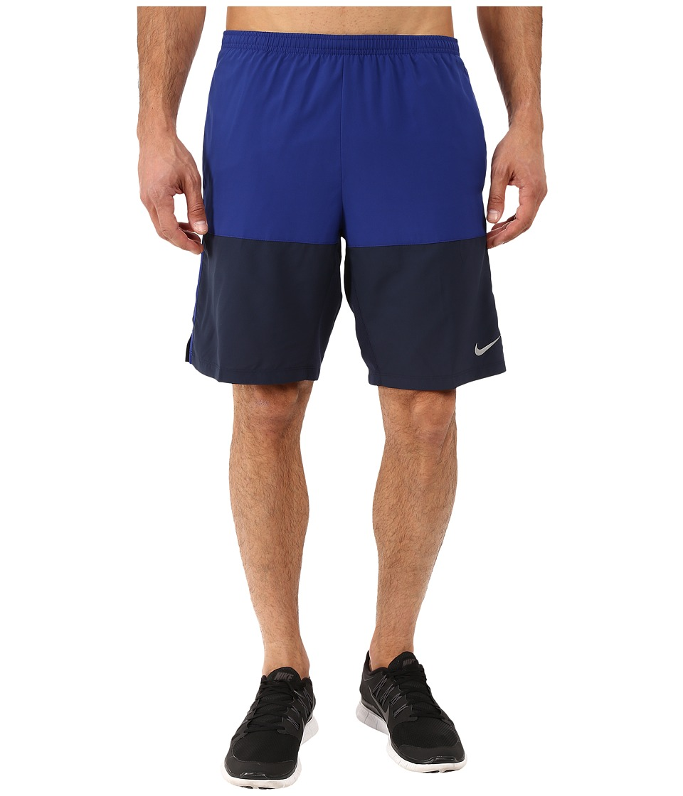 Nike - 9 Distance Running Short (Deep Royal Blue/Obsidian/Reflective Silver) Men's Shorts