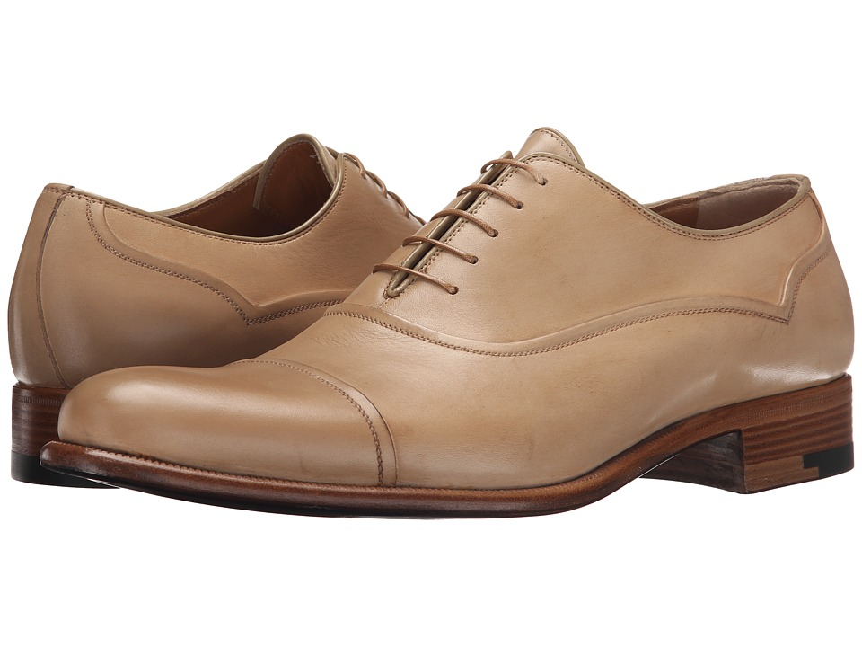 a. testoni - Black Label Delave Calf Oxford (Nude) Men's Lace up casual Shoes