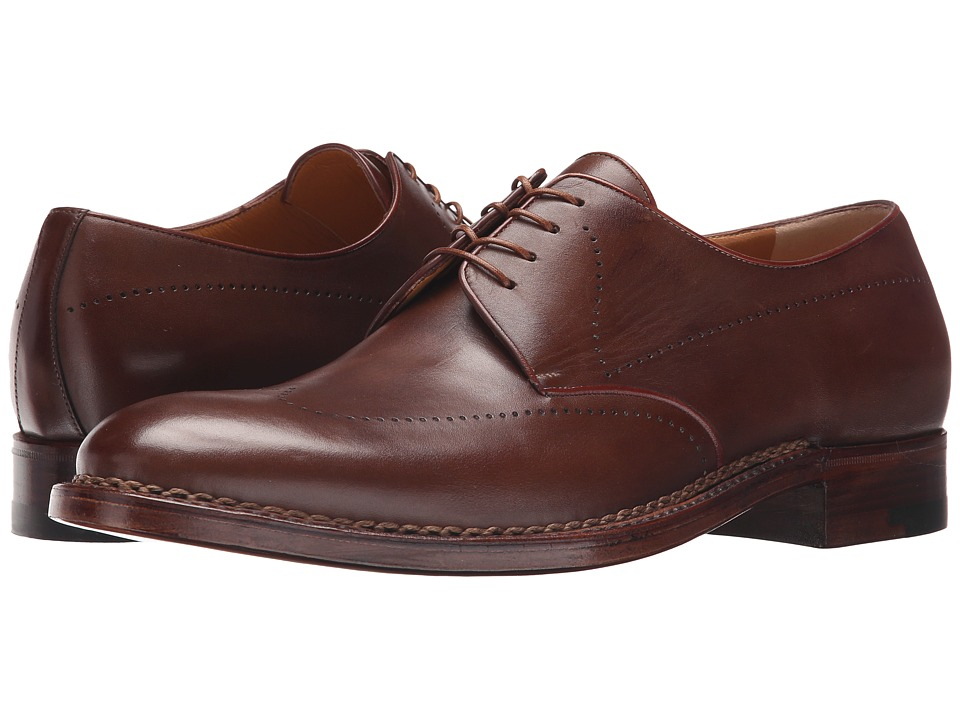 a. testoni - Amedeo Testoni Delave Calf Derby (Caramel) Men's Shoes