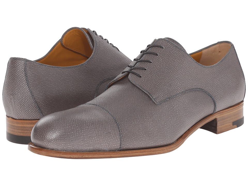 a. testoni - Grainy Shiny Calf Derby (Pearl) Men's Shoes