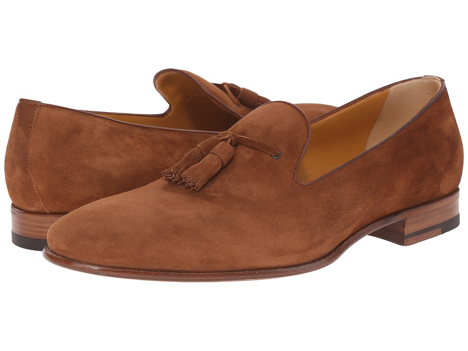 a. testoni - Deluxe Suede Tassle Loafer (Caramel) Men's Slip on Shoes