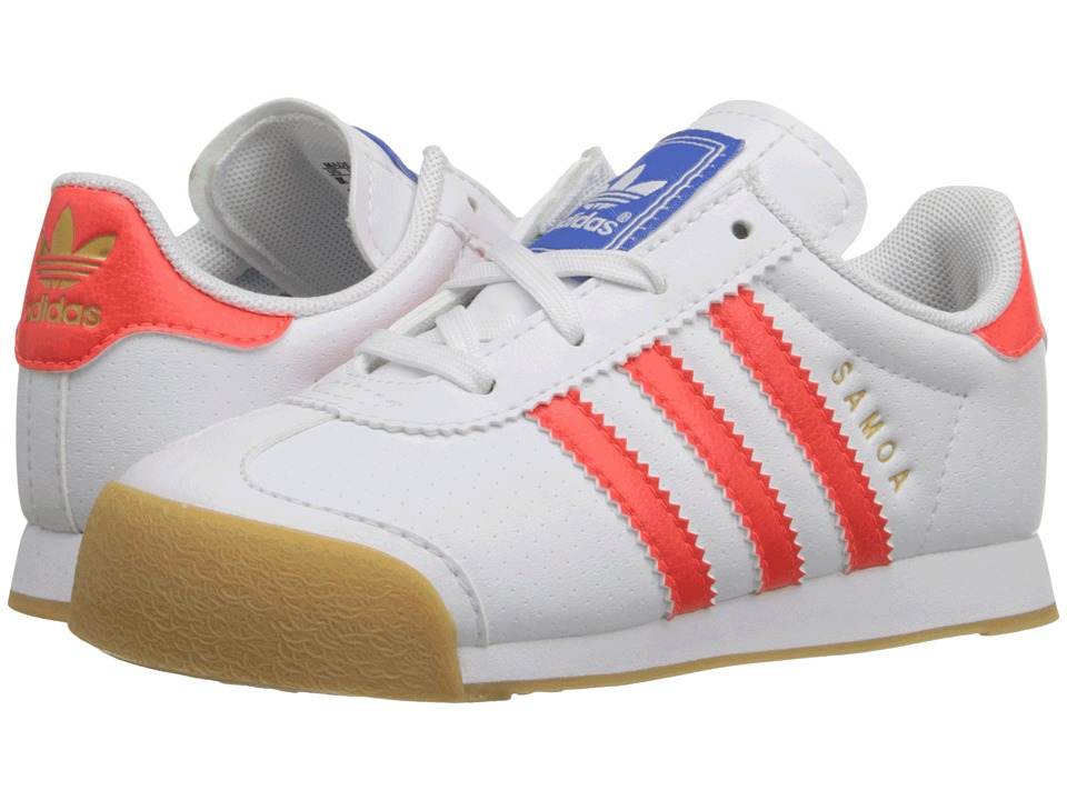 adidas Originals Kids - Samoa (Toddler) (White/Solar Red/White) Kids Shoes