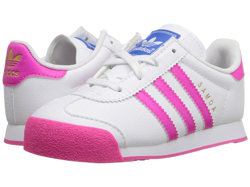 adidas Originals Kids - Samoa (Toddler) (White/Shock Pink/White) Kids Shoes