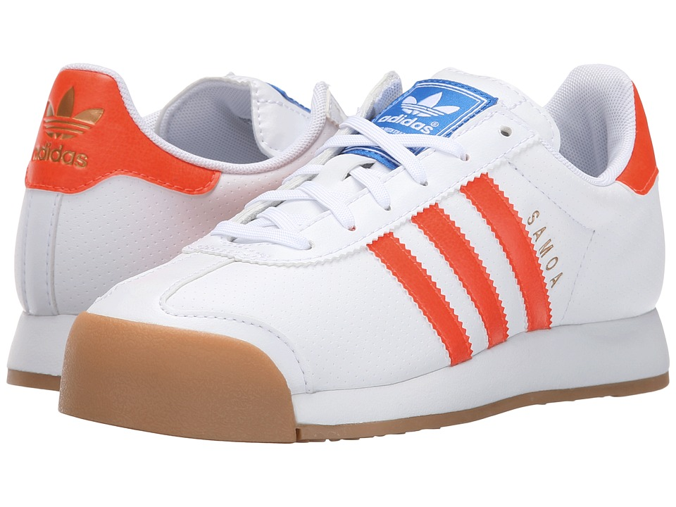 adidas Originals Kids - Samoa (Big Kid) (White/Solar Red/Gum) Kids Shoes