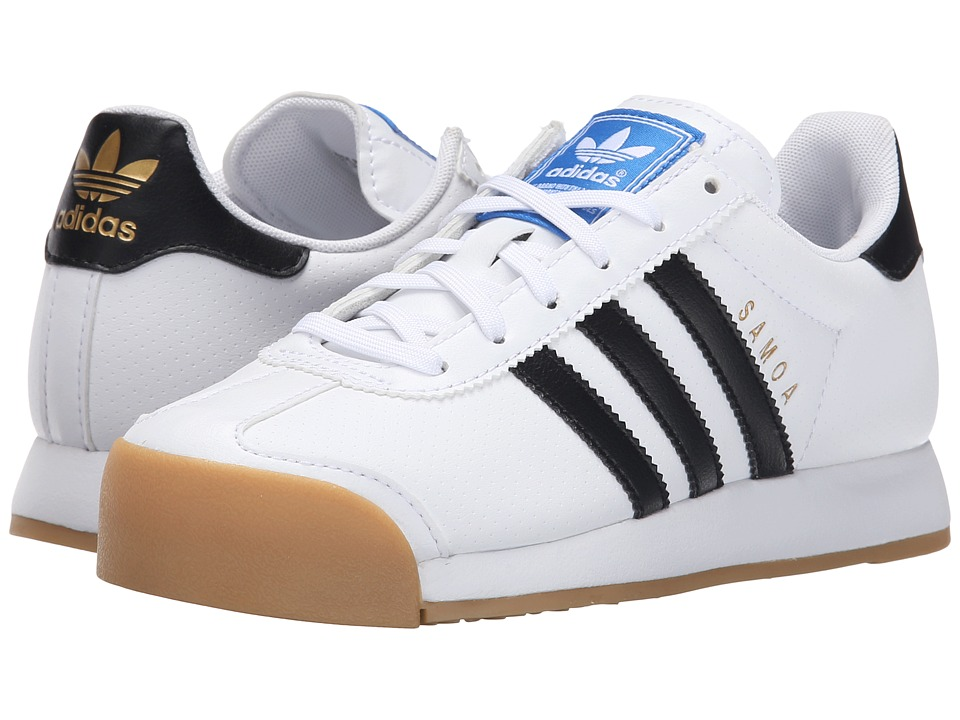 adidas Originals Kids - Samoa (Big Kid) (White/Black/Gum) Kids Shoes