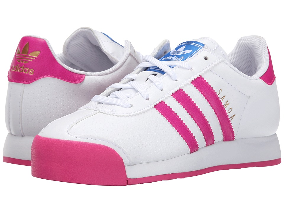 adidas Originals Kids - Samoa (Big Kid) (White/Shock Pink/White) Kids Shoes