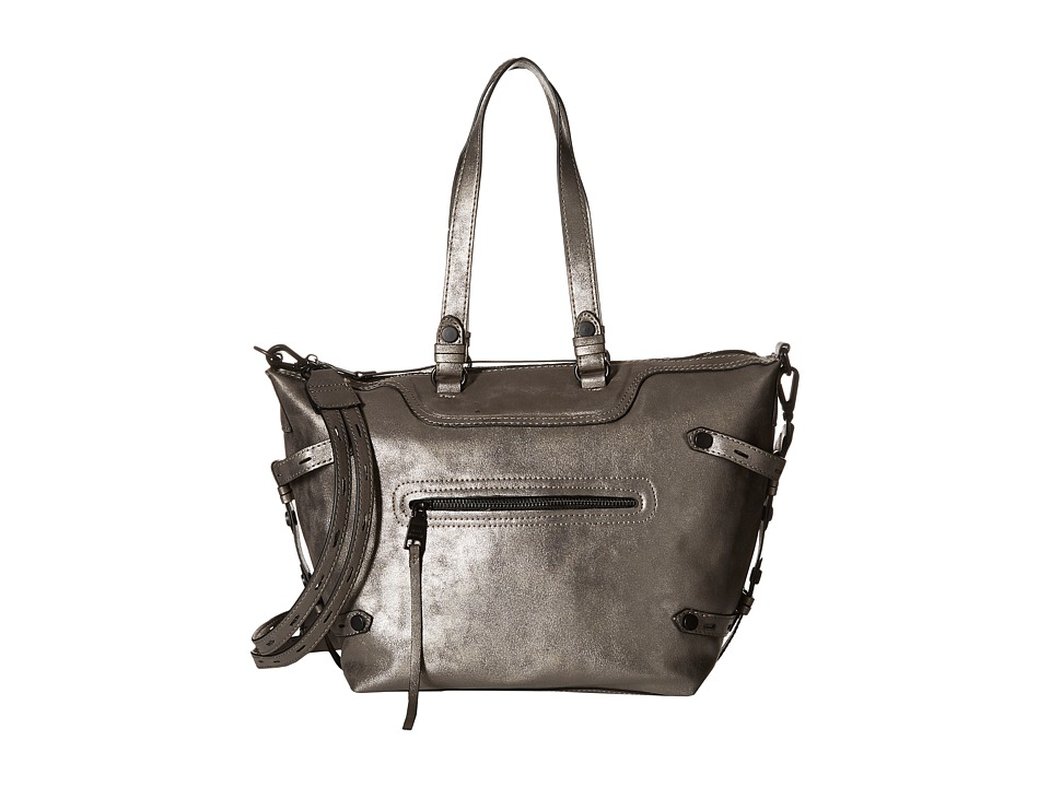Steve Madden - Bstrippy Satchel (Pewter) Satchel Handbags