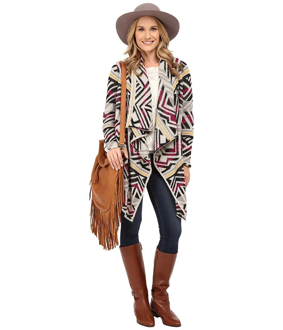 Lucky Brand - Intarsia Sweater Coat (Multi) Women's Coat