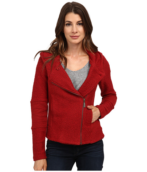 Lucky Brand - Hooded Active Jacket (Red Multi) Women's Coat