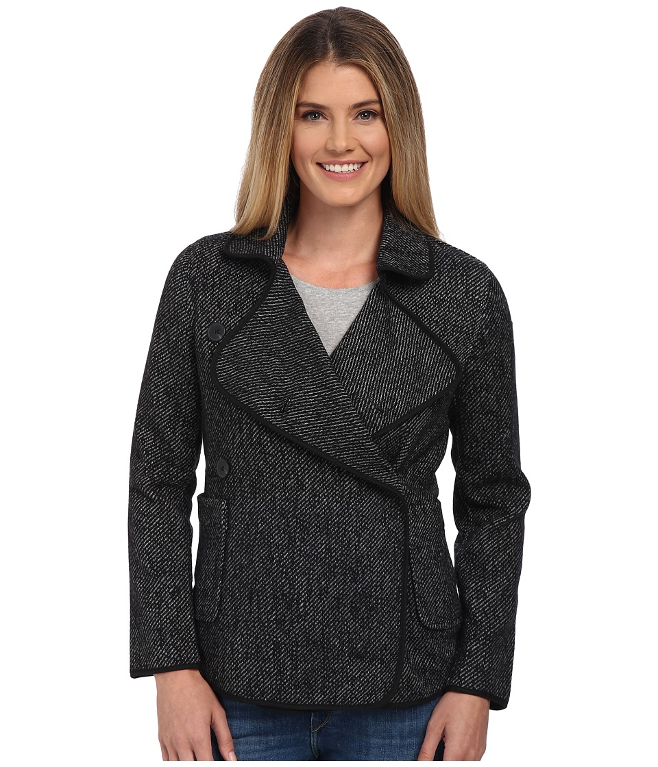 Lucky Brand - Drape Front Wool Jacket (Black Multi) Women's Coat