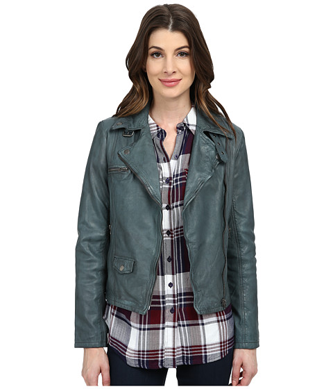 Lucky Brand - Moto Jacket (Castle Rock Grey) Women