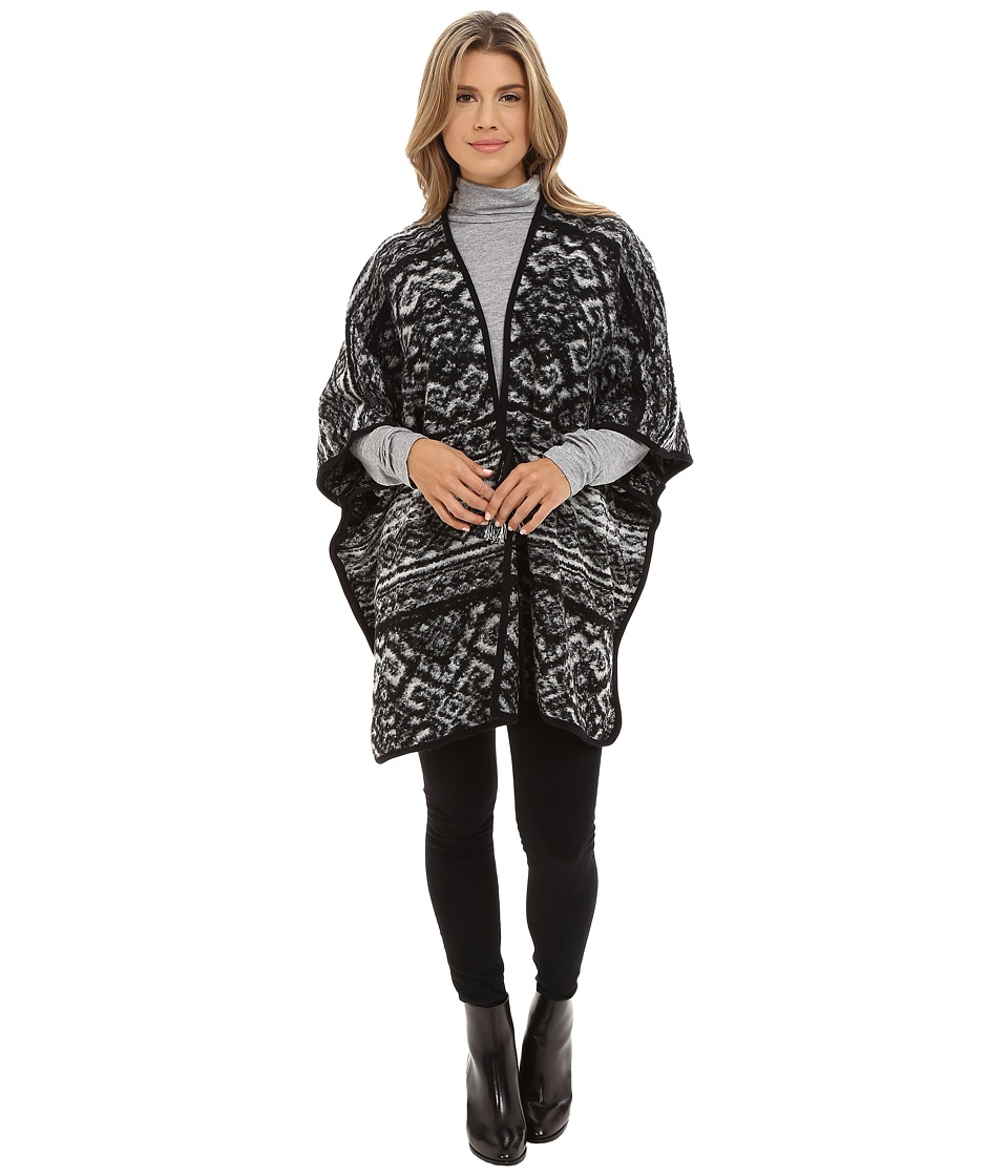 Lucky Brand - Active Poncho (Black Multi) Women