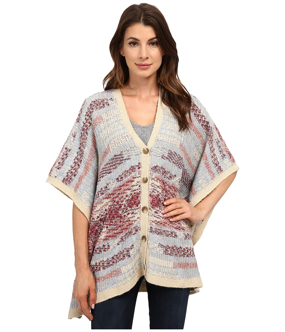 Lucky Brand - Intarsia Poncho (Multi) Women's Coat