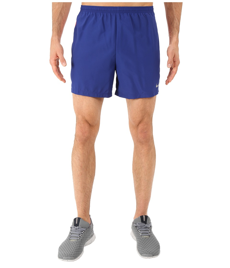 Nike - 5 Challenger Shorts (Deep Royal Blue/Bright Crimson/Reflective Silver) Men's Shorts