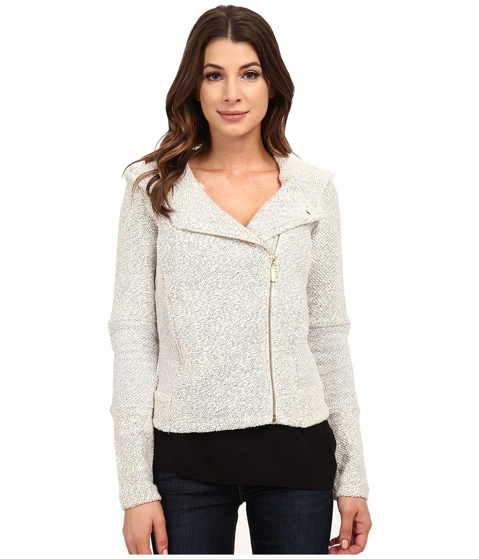 Lucky Brand - Hooded Active Jacket (Light Grey) Women's Coat