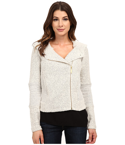 Lucky Brand - Hooded Active Jacket (Light Grey) Women's Coat