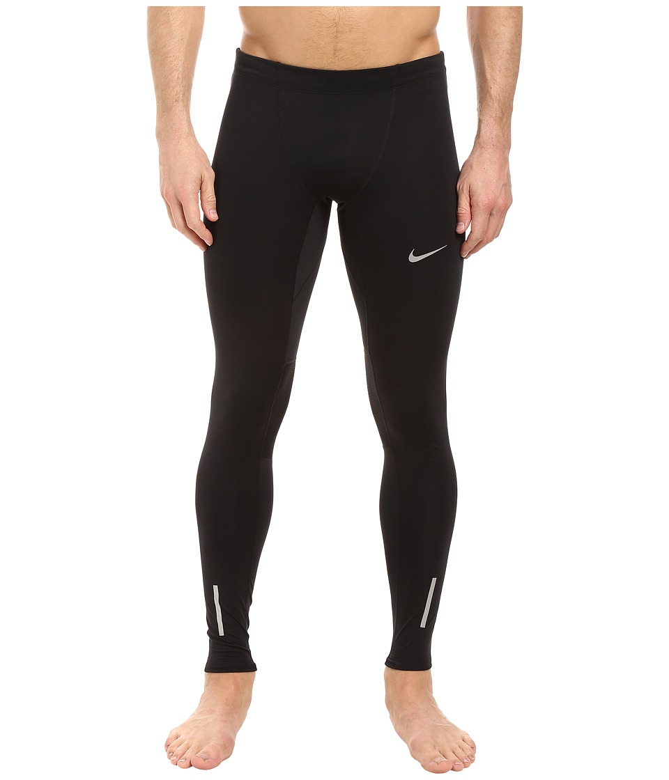 Nike - Power Tech Running Tight (Black/Reflective Silver) Men's Workout