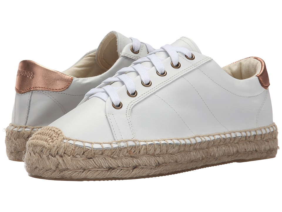 Soludos - Platform Tennis Sneaker (White Leather) Women's Shoes