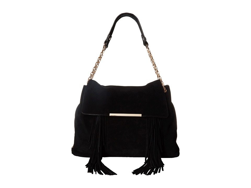 Steve Madden - Bcochel Fringe Satchel (Black) Shoulder Handbags