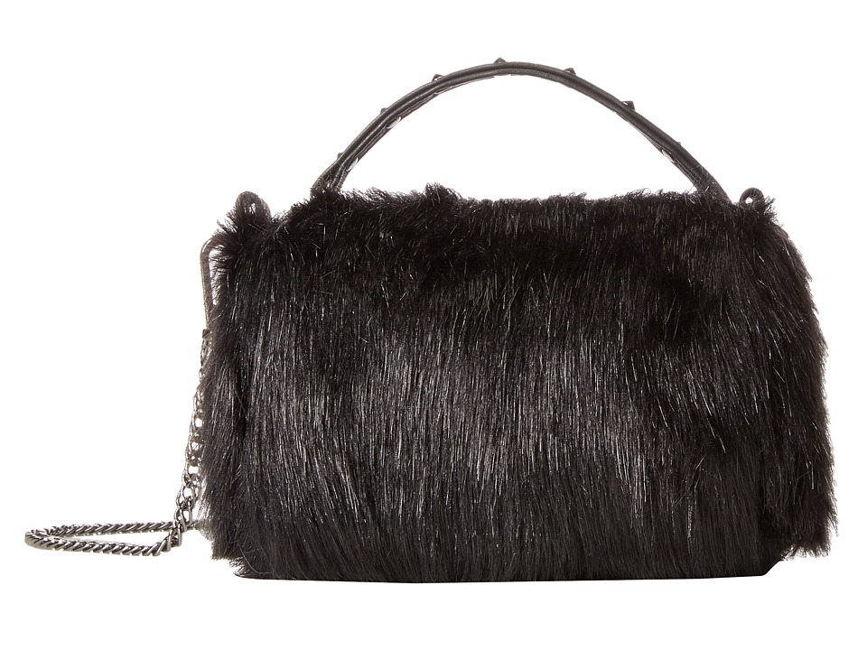 Steve Madden - Bleonie Fluffy Crossbody (Black) Cross Body Handbags