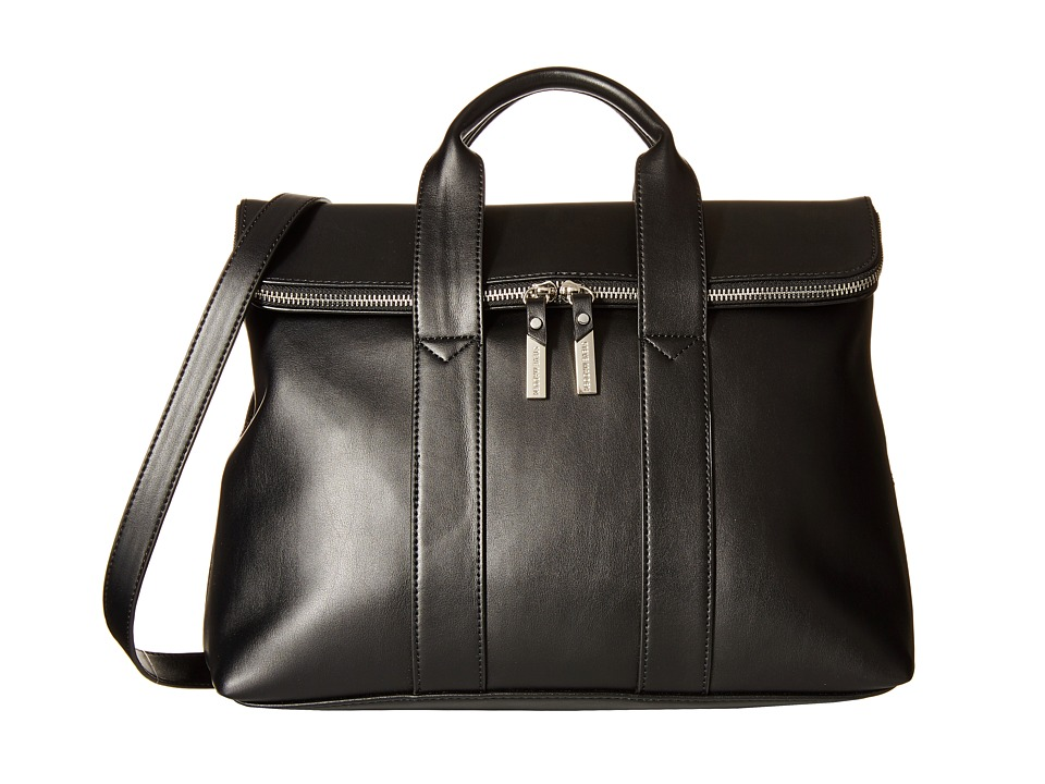 Steve Madden - Bfoldovr Flap Satchel (Black) Satchel Handbags