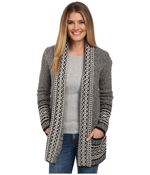 Lucky Brand - Bordered Cardigan (Black Multi) Women's Sweater
