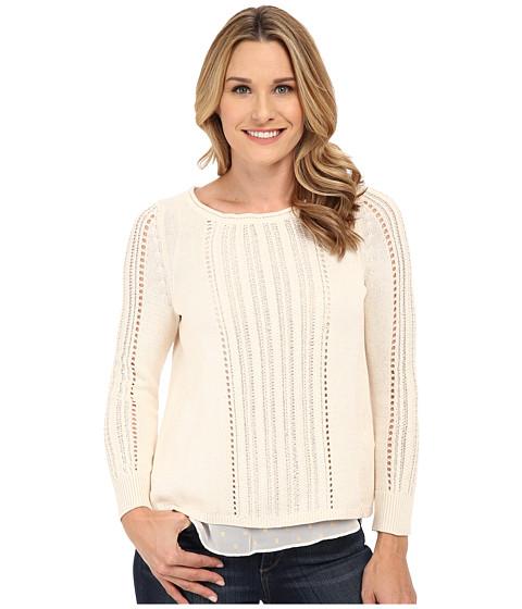 Lucky Brand - Metallic Mixed Sweater (Nigori) Women's Sweater