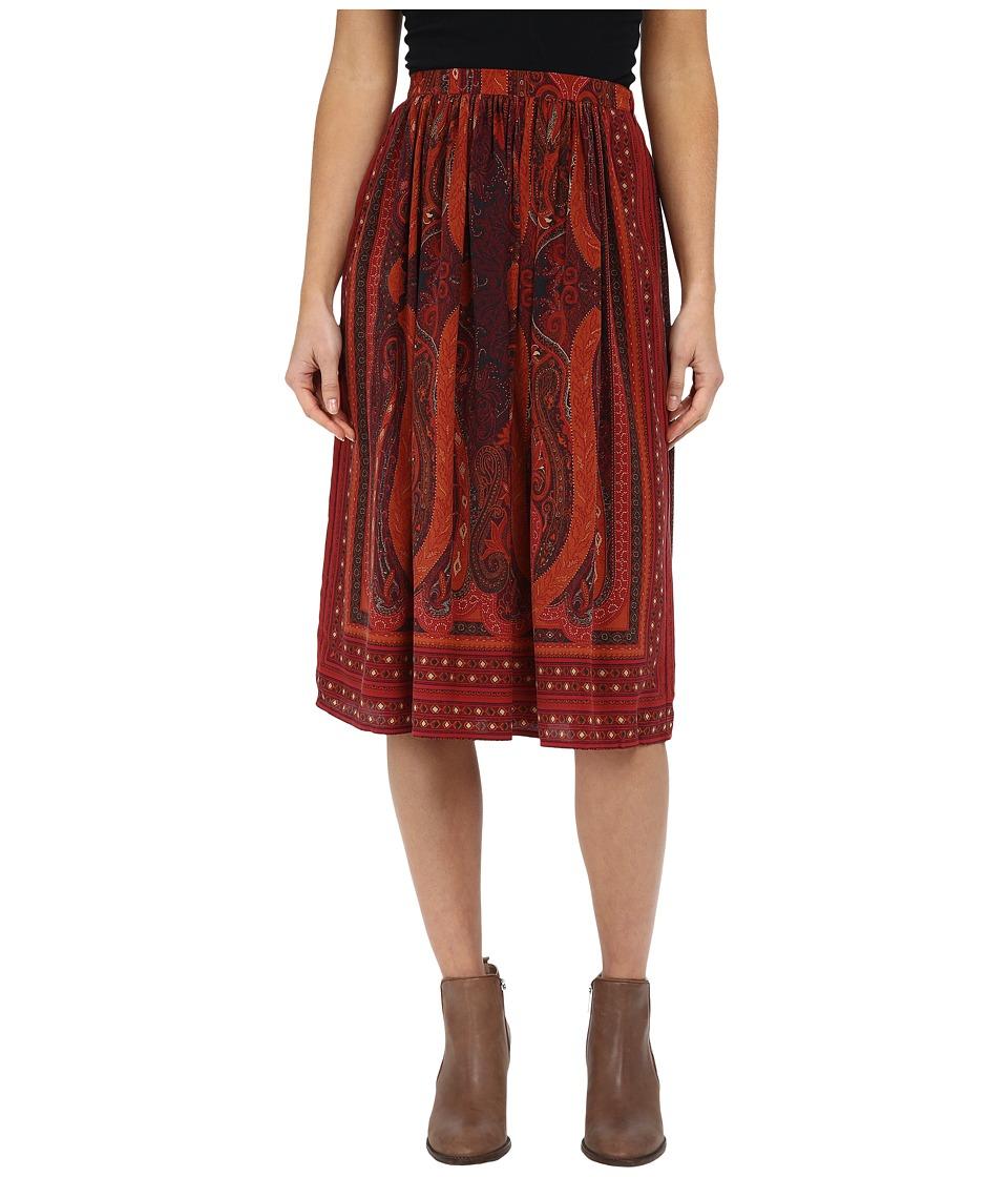 Lucky Brand - Mirrored Batik Skirt (Red Multi) Women's Skirt