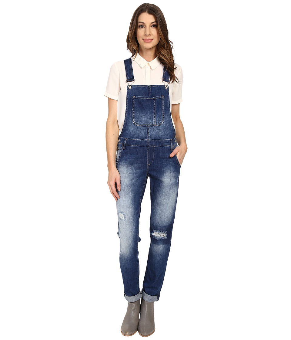 Mavi Jeans - Edera in Patch Ripped Vintage (Patch Ripped Vintage) Women's Overalls One Piece plus size,  plus size fashion plus size appare