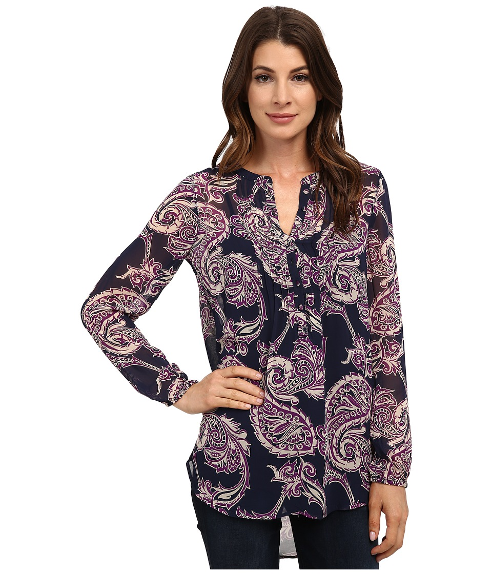 Lucky Brand - Paisley Pleated Tunic (Purple Multi) Women's Blouse