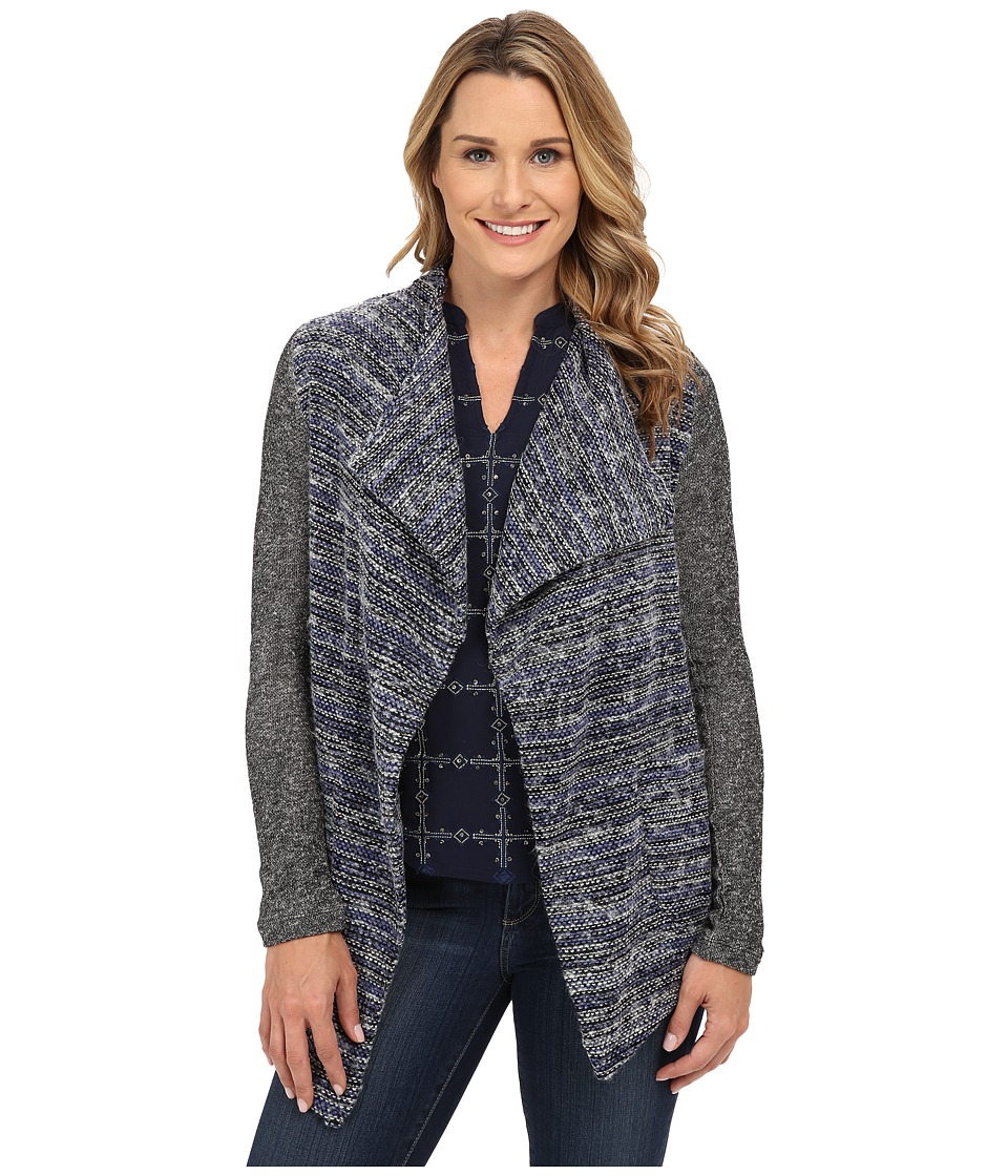Lucky Brand - Sweater Mixed Wrap (Blue Multi) Women's Clothing