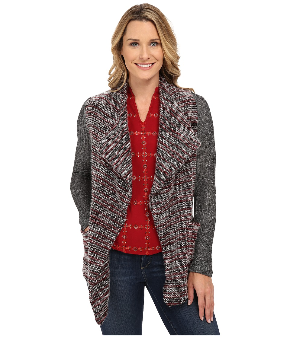 Lucky Brand - Sweater Mixed Wrap (Red Multi) Women's Clothing