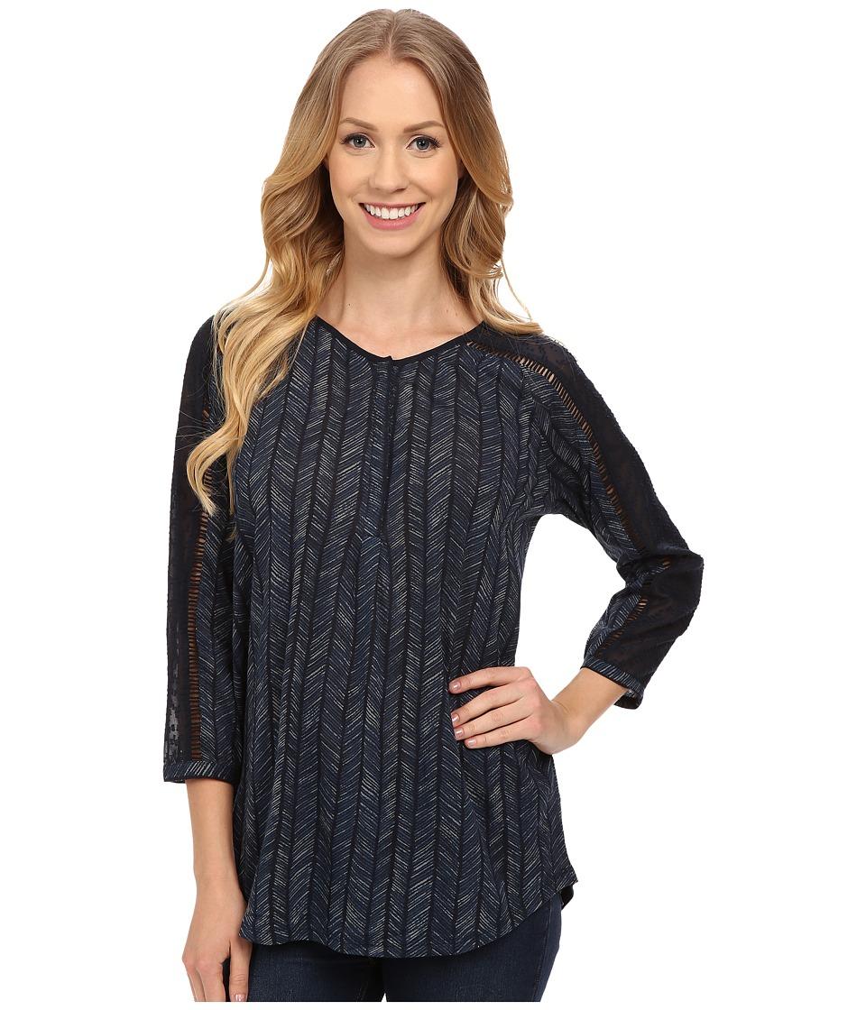 Lucky Brand - Modern Herringbone Shirt (Blue Multi) Women's Blouse