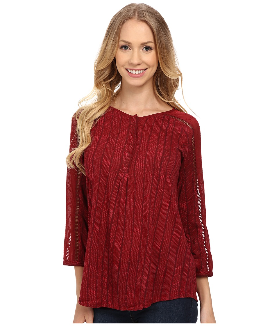 Lucky Brand - Modern Herringbone Shirt (Red Multi) Women's Blouse