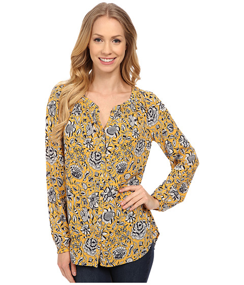 Lucky Brand - Jemma Floral Peasant (Gold Multi) Women