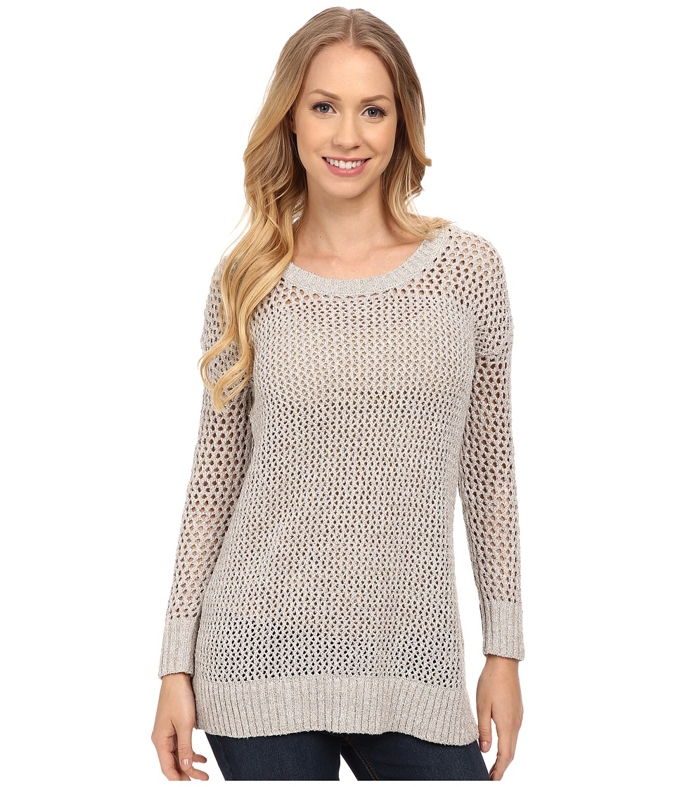 Lucky Brand - Laced-Up Pullover (Grey Multi) Women