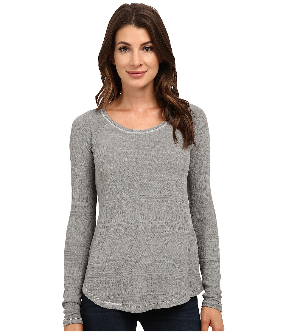 Lucky Brand - Jacquard Thermal (Medium Grey) Women's Clothing