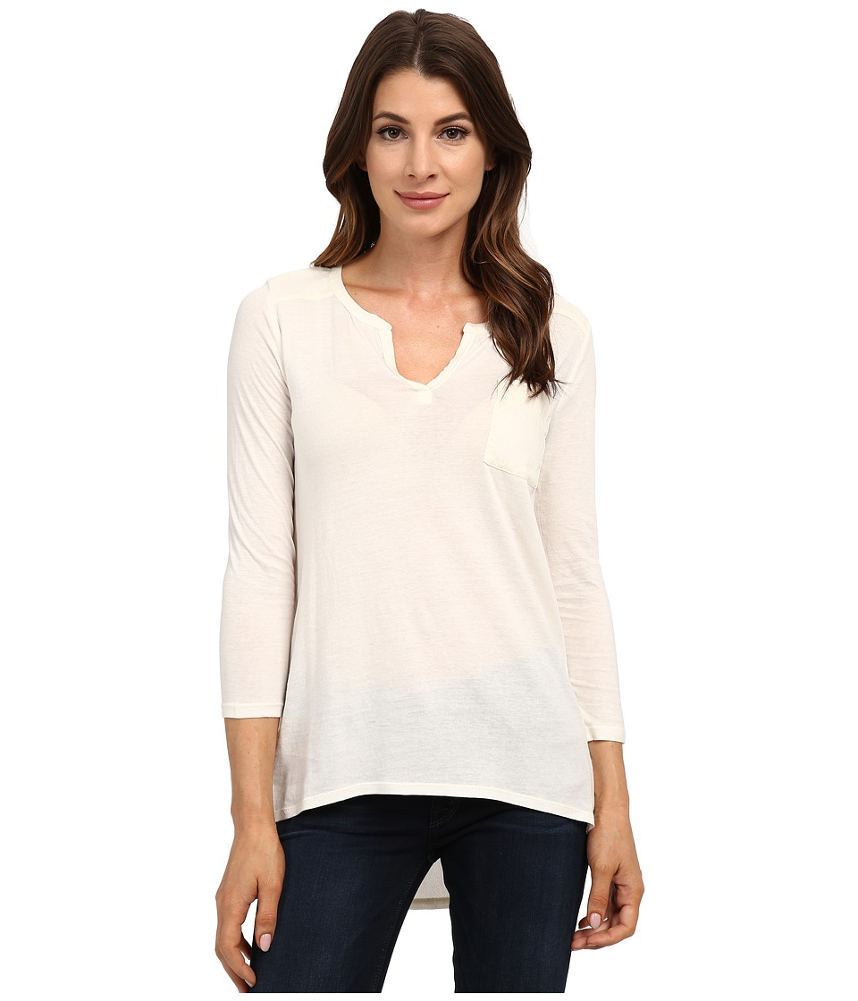 Lucky Brand Dobby Mixed Henley (Nigori) Women
