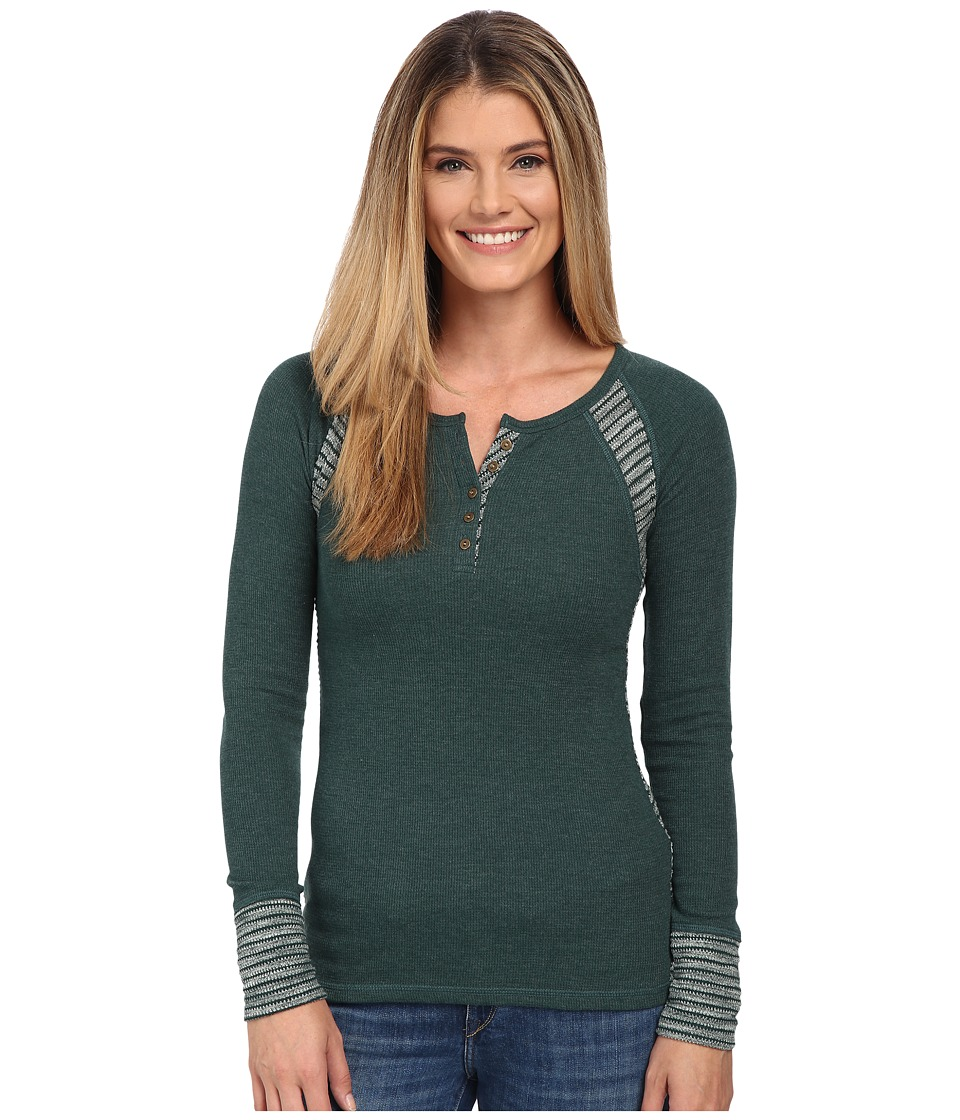 Lucky Brand - Swit Mixed Thremal (Emerald Multi) Women's Clothing