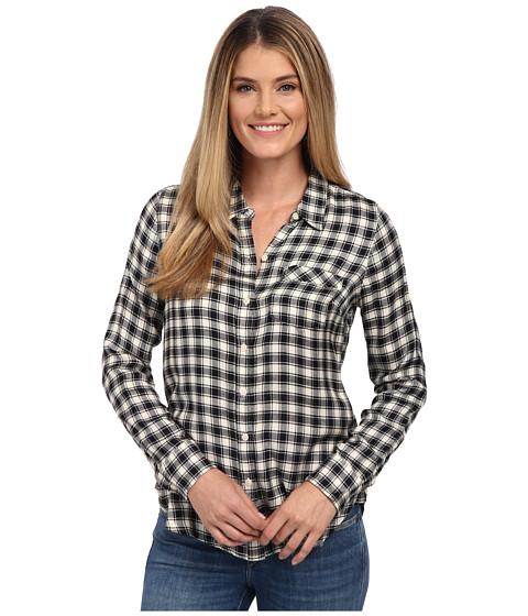 Lucky Brand - Boyfriend Flannel (Black Multi) Women's Clothing