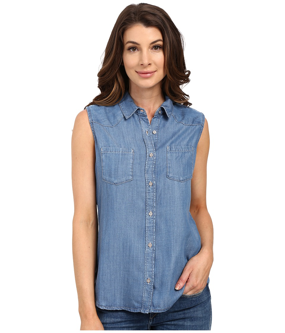 Mavi Jeans - Alena (Mid Tencel) Women's Short Sleeve Button Up