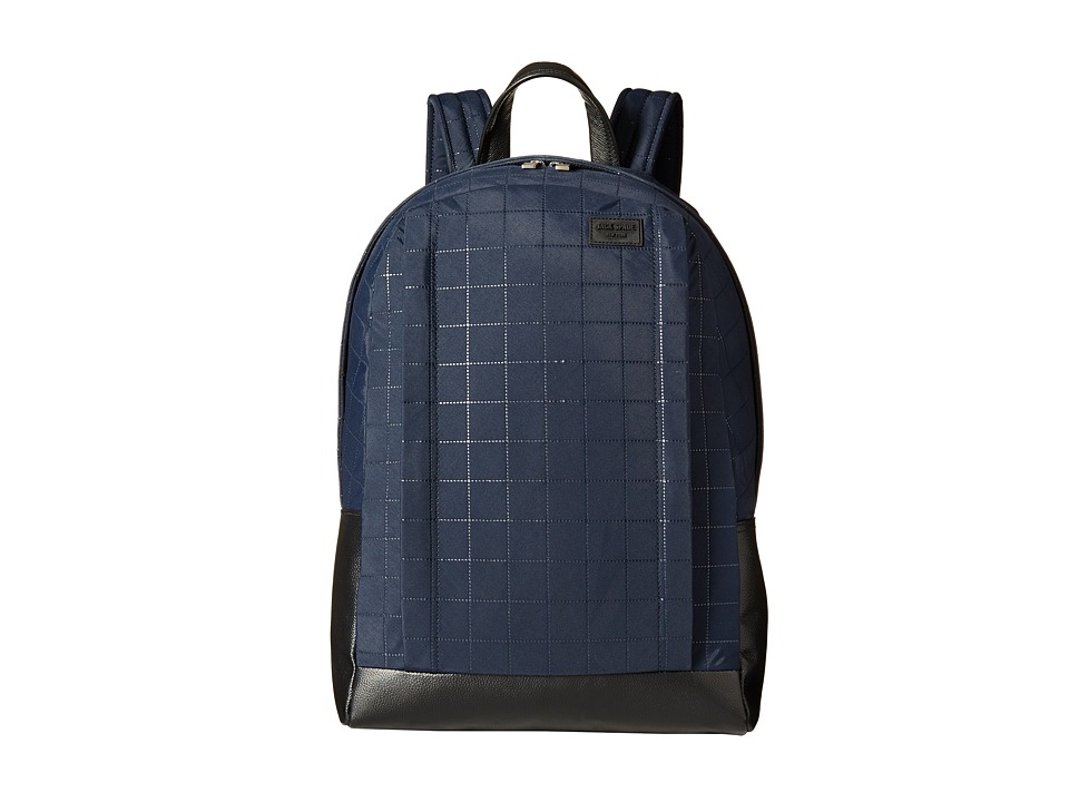 Jack Spade - Quilted Tech Nylon Backpack (Navy) Backpack Bags