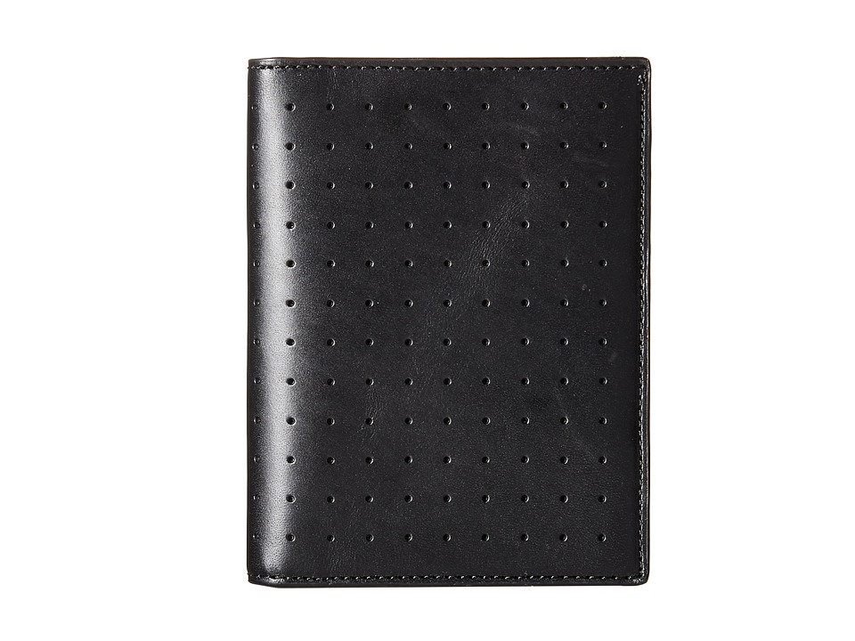 Jack Spade - 610 Leather Passport Wallet (Black) Wallet Handbags