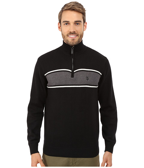 U.S. POLO ASSN. - 1/4 Zip Sweater (Black) Men