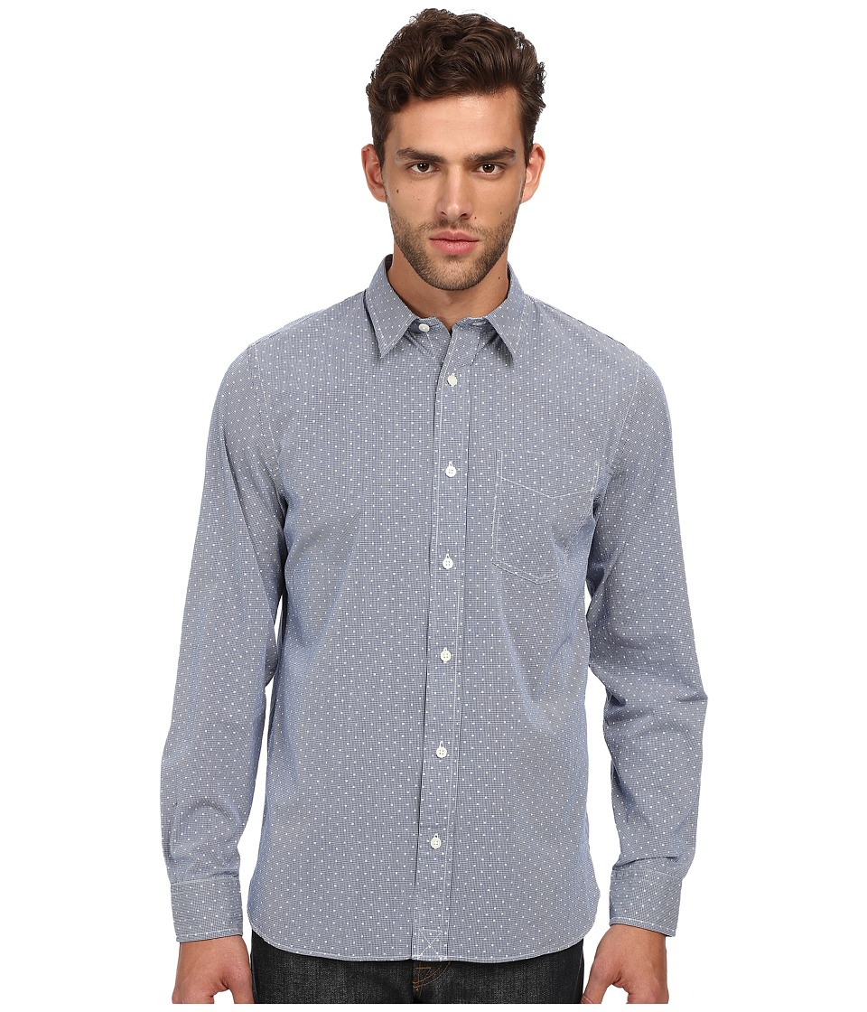 Jack Spade - Ashland Gingham Dot Shirt (Blue) Men's Long Sleeve Button Up