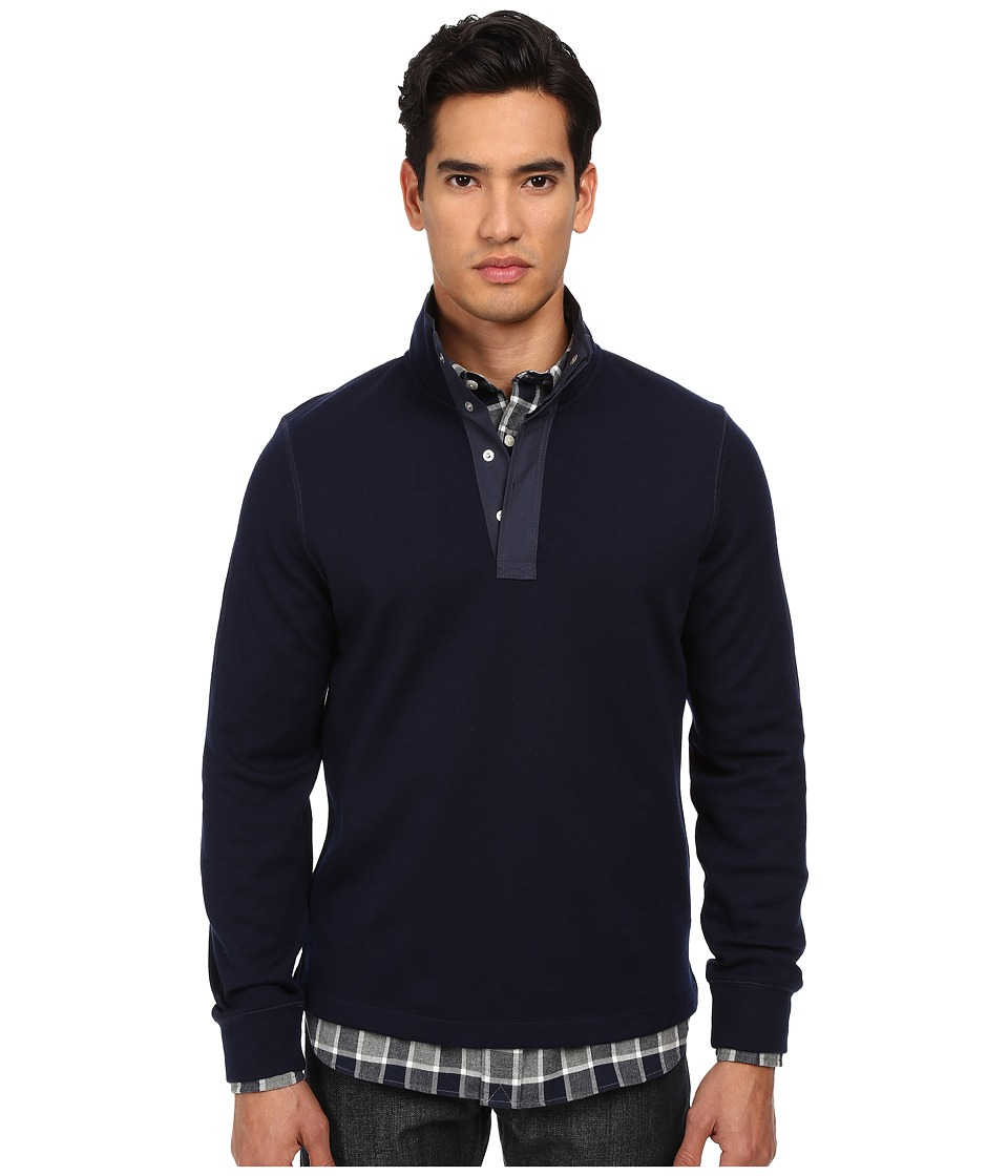 Jack Spade - Bayfield Half Button Pullover (Jack Navy) Men's Clothing