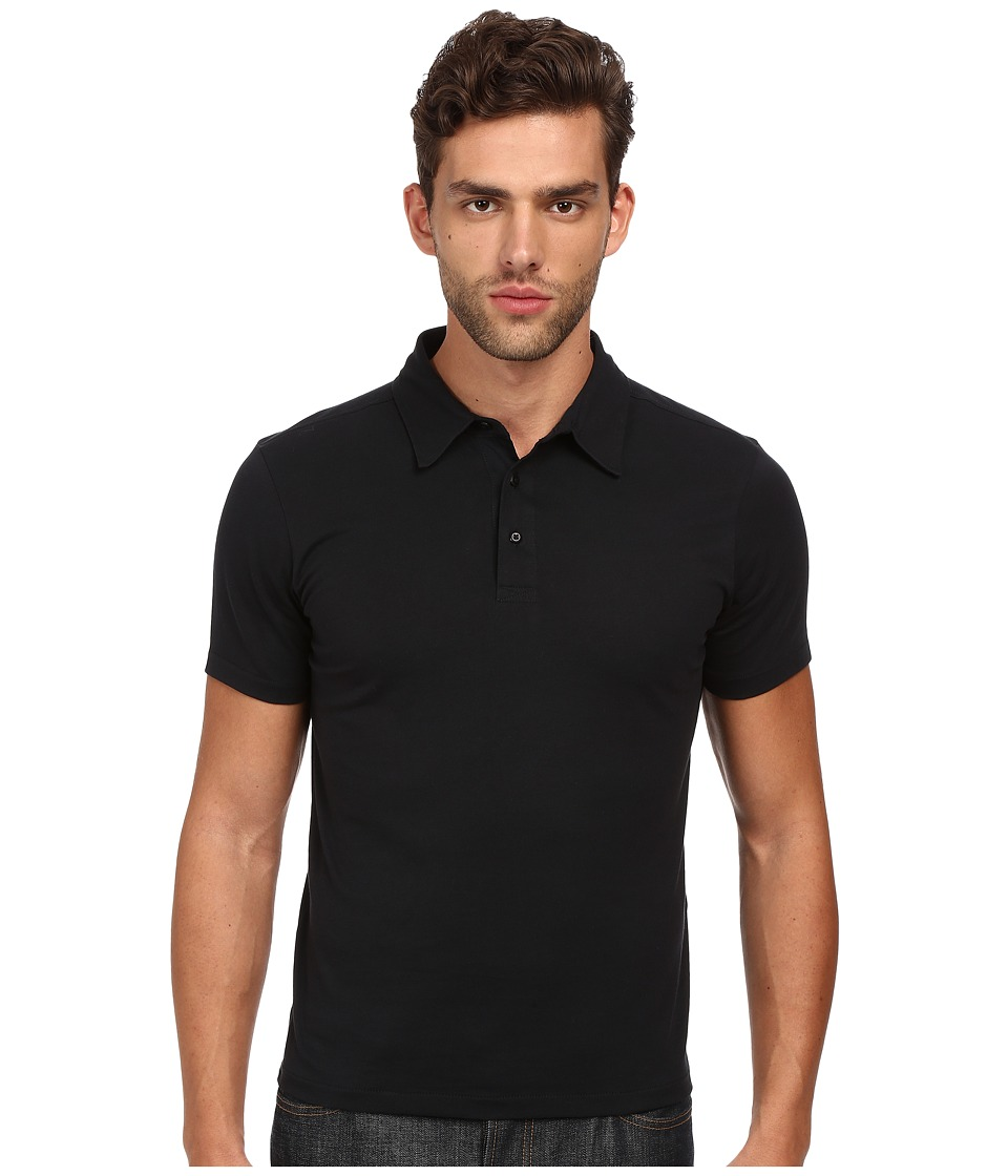Jack Spade - Wilmont Dress Polo (Black) Men's Short Sleeve Pullover