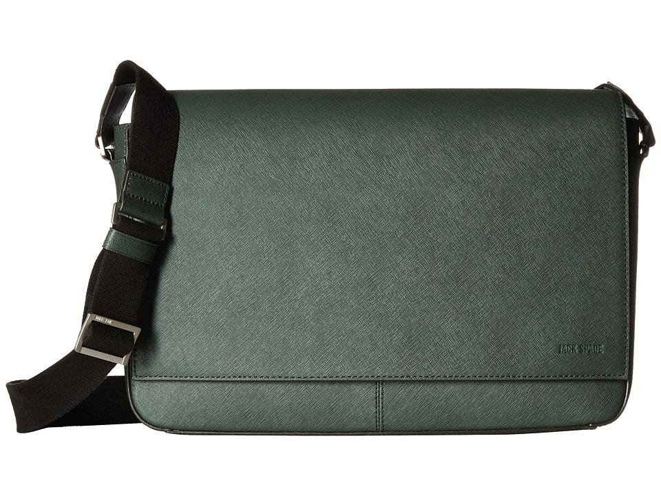 Jack Spade - Barrow Leather Messenger (Green) Messenger Bags