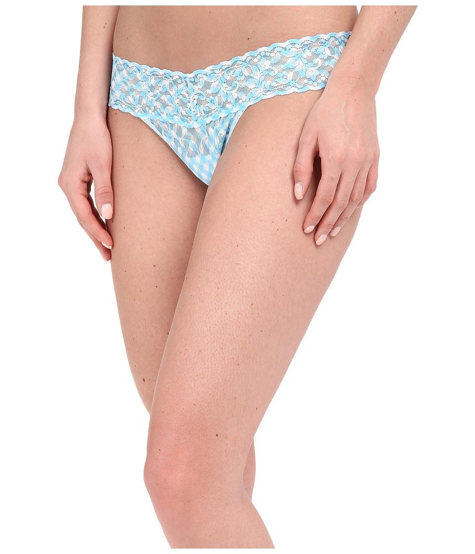 Hanky Panky - Check Me Out Low Rise Thong (Blue/White) Women's Underwear