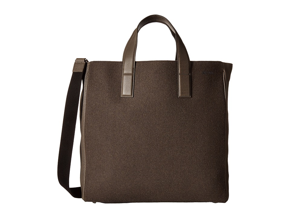 Jack Spade - Kahn Wool Leather Tote (Slate) Tote Handbags